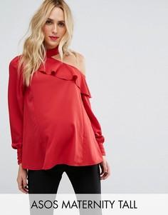 Блузка с открытыми плечами ASOS Maternity TALL - Красный