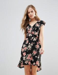Платье с цветочным принтом и оборками Oh My Love - Мульти