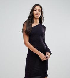 Облегающее платье на одно плечо с оборкой Oh My Love Tall - Фиолетовый