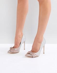 Туфли-лодочки на каблуке с блестками и эффектом омбре River Island - Золотой