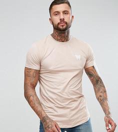 Розовая обтягивающая футболка из искусственной замши Good For Nothing - Розовый