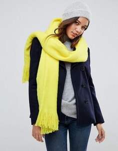 Пушистый шарф-накидка River Island - Желтый