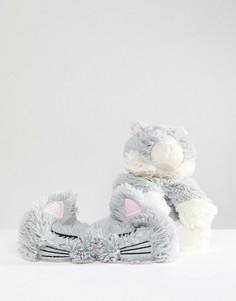 Набор из грелки-кошки и маски для сна River Island - Мульти