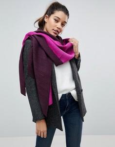 Двухцветный оверсайз шарф-накидка River Island - Розовый