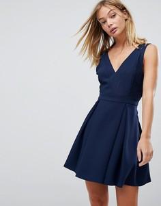 Кружевное платье BCBGeneration - Темно-синий