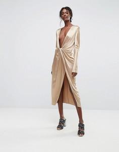 Платье с глубоким вырезом Bec & Bridge - Золотой