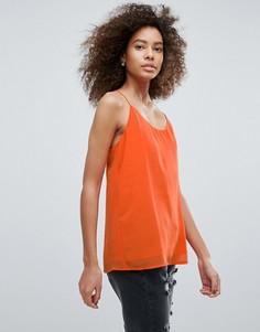 Топ с лямками и спиной-борцовкой Traffic People - Оранжевый
