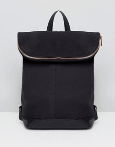 Рюкзак с розово-золотистой молнией ASOS - Черный