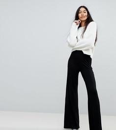 Классические брюки с широкими штанинами ASOS Tall - Черный