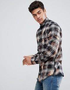 Фланелевая рубашка с выбеленным эффектом Jack & Jones Originals - Черный