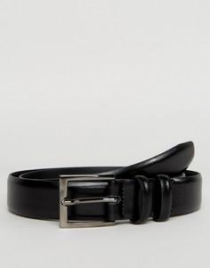 Черное кожаное платье с поясом Esprit - Черный