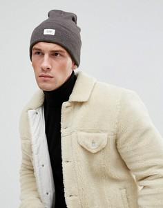 Серая меланжевая шапка-бини Esprit - Серый