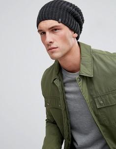 Темно-серая шапка-бини в рубчик Esprit - Серый