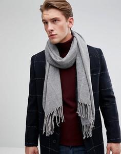 Серый двухцветный шарф Esprit - Серый