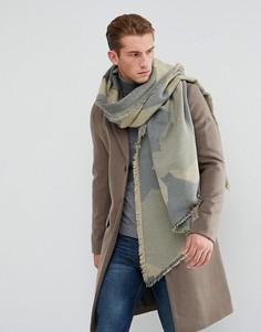 Камуфляжный шарф Esprit - Зеленый