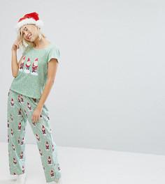 Пижама в горошек с принтом гномов Monki - Зеленый