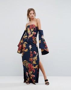Платье макси с принтом C/Meo Collective - Темно-синий