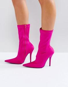 Ботильоны на каблуке Public Desire Danger - Розовый
