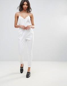 Облегающие брюки Neon Rose Luxe - Белый