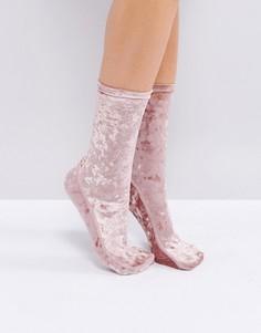 Бархатные носки Free People Go Go - Розовый
