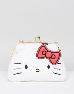 Сумка через плечо из искусственного меха Hello Kitty X ASOS - Белый