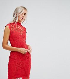 Кружевное платье миди Paper Dolls Petite - Красный