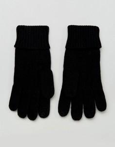 Черные вязаные перчатки Esprit - Черный