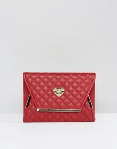 Стеганый клатч Love Moschino - Красный