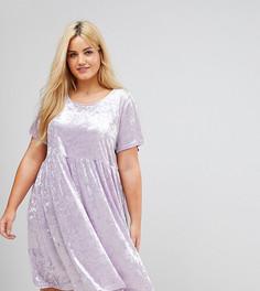 Свободное платье из мятого бархата Alice & You - Фиолетовый