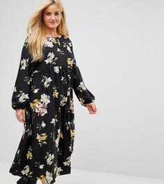 Свободное платье с цветочным принтом Alice & You - Черный