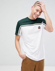 Длинная футболка с вышивкой ASOS - Белый