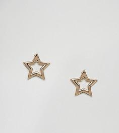 Серьги-гвоздики цвета розового золота Johnny Loves Rosie - Золотой