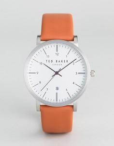 Часы со светло-коричневым кожаным ремешком Ted Baker Samuel - Рыжий