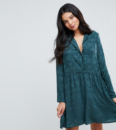 Атласное платье-рубашка Vero Moda Tall - Зеленый