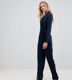 Комбинезон с запахом и завязкой Vero Moda Tall - Темно-синий