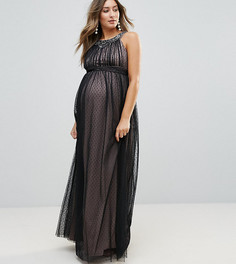 Платье макси Little Mistress Maternity - Черный