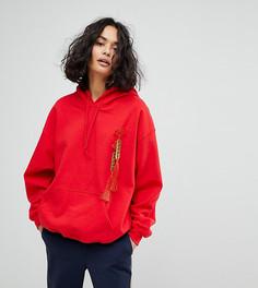 Оверсайз-худи с отделкой Reclaimed Vintage Inspired - Красный