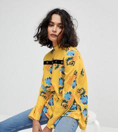 Топ с цветочным принтом и люверсами Reclaimed Vintage Inspired - Желтый
