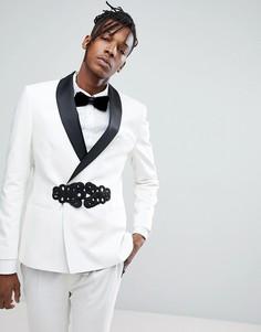 Приталенный пиджак Noose & Monkey - Белый