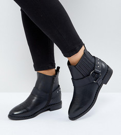 Ботинки для широкой стопы в стиле вестерн с заклепками New Look - Черный