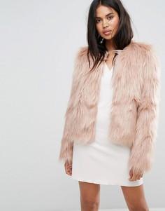 Короткая пушистая куртка Ivyrevel - Розовый