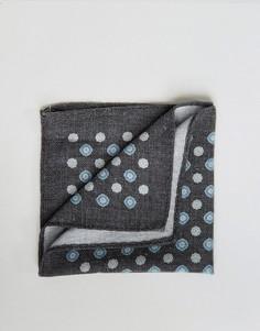 Хлопковый платок для нагрудного кармана Jack & Jones - Темно-синий