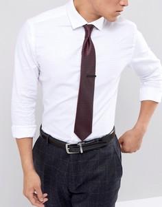 Подарочный набор с галстуком и зажимом для галстука Jack & Jones - Красный