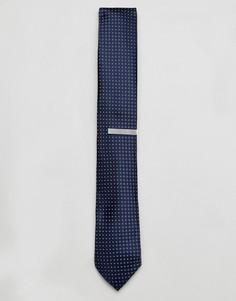 Подарочный набор с галстуком и зажимом для галстука Jack & Jones - Темно-синий