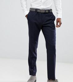 Узкие эластичные брюки в клетку Noak - Темно-синий
