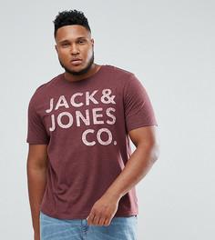 Футболка с логотипом Jack & Jones Originals PLUS - Красный