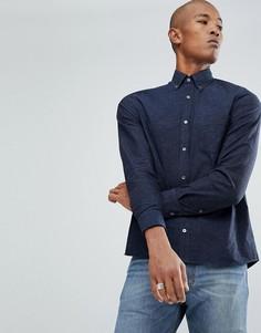Синяя тканая рубашка Aquascutum Kayson - Синий