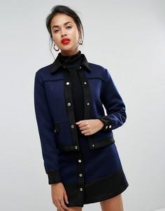 Укороченная куртка в стиле милитари Morgan - Темно-синий