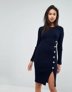 Платье с пуговицами Morgan - Темно-синий