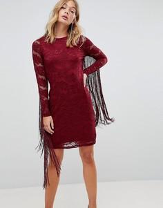 Кружевное платье с бахромой Forever Unique - Красный